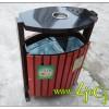 供应四川户外环保钢木分类垃圾桶
