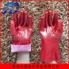 供应pvc浸胶红耐油劳保工业手套