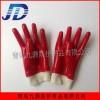 供应红色光面耐油耐酸碱工业罗纹袖口劳保手套工业手部保护耐用