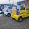 玻璃钢小宝马电动四轮车,老年电动代步车,油电两用电动汽车