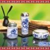 供应景德镇古典 简约 陶瓷办公文具三件套