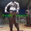 饭店人物铜雕塑 炒菜人物雕塑
