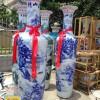 手绘陶瓷大花瓶 景德镇陶瓷大花瓶订制厂家