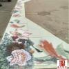 寺庙墙壁装饰大型陶瓷瓷板画 高温打印瓷板画订制