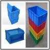 荆州中空板周转箱蓝色HP箱仓库存储塑料板箱