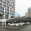 膜结构停车棚_膜结构遮阳棚_厂家免费上门测量 出设计方案