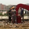 打拔6-12米桩小松挖掘机改装13米打桩臂打拔桩打桩机