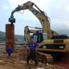 打拔桩打桩机打桩臂沃尔沃480挖掘机改装打桩臂打桩