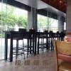 西安轻食餐厅实木吧桌定制厂家直销