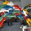山东群鱼游动不锈钢雕塑 景观鱼不锈钢雕塑厂家