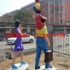 城市景观玻璃钢彩绘人物雕塑价格