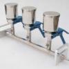 精密多联三联杯式不锈钢过滤器溶液抽滤装置