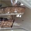 设计定做铝板雕刻铝艺雕花楼梯护栏