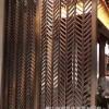 佛山金筑达西餐厅拉丝不锈钢屏风隔断