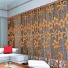 金筑达夹丝玻璃艺术铝屏风 青古铜铝浮雕屏风