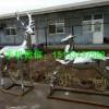 小鹿雕塑 不锈钢小鹿雕塑 动物镜面雕塑厂家