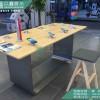 标准华为店体验桌 华为原装不锈钢配件柜 收银台