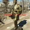 李时珍人物仿铜雕塑,玻璃钢仿铜古代医圣雕塑