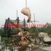 锻铜金鱼雕塑,招财金鱼雕塑,聚财金鱼雕塑厂