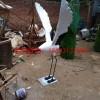 仿真仙鹤雕塑,公园仙鹤雕塑,玻璃钢动物雕塑