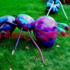 玻璃钢彩绘动物雕塑 玻璃钢卡通蚂蚁雕塑