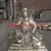 不锈钢坐像文殊雕塑 润景不锈钢雕塑厂家