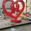 接吻人物不锈钢雕塑 红色烤漆不锈钢雕塑