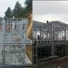 装配式房屋轻钢结构别墅生产厂家 预制龙骨构建 现场拼装
