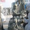 福建石雕十八罗汉雕像 花岗岩五百罗汉佛像雕塑摆件定制