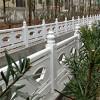 江西恒森供应扇形白色水泥仿石栏杆护栏