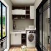 防潮易清洁全铝洗衣柜定制全铝家具型材批发橱柜定制