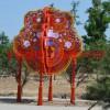 公园喜迎新春不锈钢雕塑,迎新年雕塑