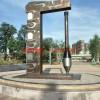 不锈钢毛笔雕塑 广场景观雕塑