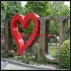 不锈钢字母雕塑 心形不锈钢雕塑