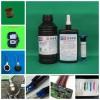 东莞UV胶水,UV-3265L2排线补强、焊点包封蓝色UV胶,紫外线胶水