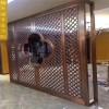 中式古典红古铜不锈钢花格 客厅大堂装饰隔断屏风