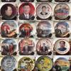 人物肖像纪念品瓷盘定做 陶瓷赏盘16寸批发