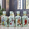 东莞陶瓷酒瓶1斤厂家报价 广东陶瓷酒厂酒具定做