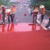 上海彩色防滑路面聚氨酯胶粘剂陶瓷颗粒彩色路面供应商