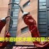 紅紅火火大型蔬菜玻璃鋼辣椒雕塑打造城市新建築的藝術裝置