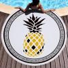 圆形沙滩巾批发创意印花图案防晒沙滩巾民族风流苏披肩沙滩巾