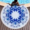 沙滩巾圆形沙滩巾数码印花150*150流苏浴巾野餐垫定制