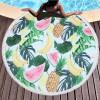 厂家直销圆形印花字母沙滩巾超细纤维毛巾布加流苏浴巾厂家可定制