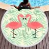 超细纤维沙滩巾圆形数码印花150*150cm流苏浴巾野餐垫定制