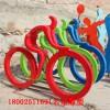 江酒公园抽象元素玻璃钢自行车人物雕塑小品