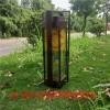 新中式萬里江山景觀燈定制電鍍拉絲燈柱高檔會所不�袗�庭院燈
