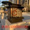 电镀青古铜柱头灯广场大理石立柱灯花园别墅围墙灯庭院灯