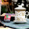 供应福利礼品陶瓷茶杯带过滤网陶瓷茶杯