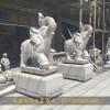 石雕大象图片福建动物石雕大象造型多样