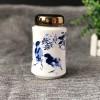 中号陶瓷茶叶罐密封储物罐景德镇定做陶瓷罐子厂家